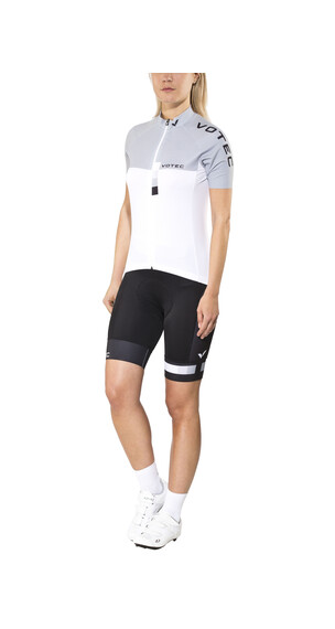VOTEC EVO Race Jersey/Bib shorts set Dames wit/grijs